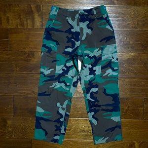 vintage 90s military cargo pants ★ diamond cut ★